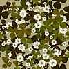 nahtloses Blumenmuster mit Klee
