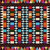 Amerikanischer indianischer etnischer Hintergrund