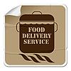 Lebensmittel-Lieferservice - Aufkleber