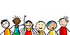 Lächelnde Gesichter von Kindern