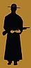 Cowboy-Silhouette