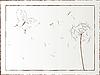 Löwenzahn und Schmetterling gerahmte Illustration, Kunst