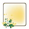 Trauben Medaillon auf gelbem