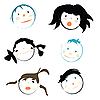 Children faces | Stock Vector Graphics