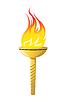 Olympische Fackel Symbol