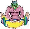 Monster-Vorlage mit Gewichte | Stock Vektrografik