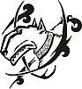 Tattoo mit Kopf des Bullterriers