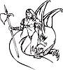 Fantasy Mädchen auf Schlange