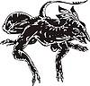 schwarze Monster