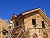 Bau eines Holz-Haus | Stock Photo