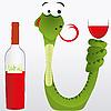 ID 3011176 | Schlange mit Wein | Stock Vektorgrafik | CLIPARTO