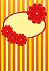 gelbe Glückwunschkarte mit roten Blumen