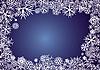 Hintergrund mit blauen Schneeflocken