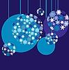 ID 3011315 | Новогодний фон с елочными шарами | Векторный клипарт | CLIPARTO