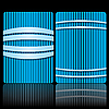 Полосатые синие шаблоны для визиток | Векторный клипарт