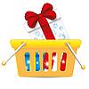 Warenkorb mit Geschenke