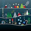 Kartki świąteczne pozdrowienia | Stock Vector Graphics