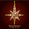 ID 3011426 | Christmas star tworzą złote płatki śniegu | Klipart wektorowy | KLIPARTO