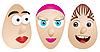 ID 3011523 | Eier mit Gesichtern | Stock Vektorgrafik | CLIPARTO