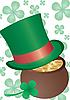 Goldtopf und grüner Hut