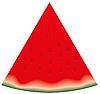 Stück von Wassermelone