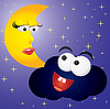 ID 3016267 | Mond und Wolke | Stock Vektorgrafik | CLIPARTO