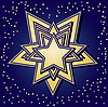 Gwiazdki na niebieskim tle | Stock Vector Graphics