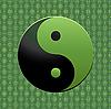 grünes Ying-Yang Zeichen