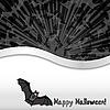 Halloween-Karte mit einer Fledermaus