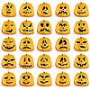 ID 3063248 | Kürbisse für Halloween | Stock Vektorgrafik | CLIPARTO