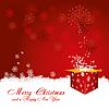 Czerwona kartka świąteczna | Stock Vector Graphics