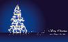 ID 3110767 | Blaue Weihnachtskarte mit Tannenbaum | Stock Vektorgrafik | CLIPARTO