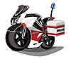 救护车摩托车 | 向量插图