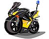 警用摩托车 | 向量插图