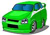 绿色赛车 | 向量插图