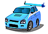 Vector clipart: new racing car