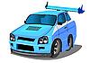 새로운 경주 용 자동차 | Stock Vector Graphics