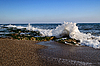 Morze fala łamie się na skałach | Stock Foto