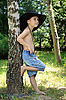 Boy near the birch | Stock Foto