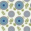 Nahtlose Illustration mit Blumen | Stock Vektrografik