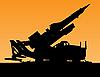 Raketenwerfer-Silhouette