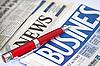 ID 3015788 | Czerwone pióro na gazety biznesowej | Foto stockowe wysokiej rozdzielczości | KLIPARTO