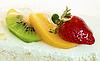 ID 3015823 | Торт с клубникой, киви и апельсином | Фото большого размера | CLIPARTO