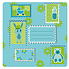 ID 3018623 | Blaue Karte mit Briefmarken | Illustration mit hoher Auflösung | CLIPARTO