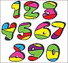 Bunte Zahlen | Stock Illustration