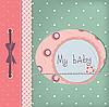 ID 3110601 | Dziewczyna karty Baby pozdrowienia | Stockowa ilustracja wysokiej rozdzielczości | KLIPARTO