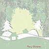 ID 3110616 | Weihnachtskarte im Grunge-Stil | Illustration mit hoher Auflösung | CLIPARTO