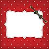 Weihnachtskarte mit Rahmen und Band | Stock Illustration