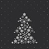 Christmas tree z płatki śniegu | Stock Illustration
