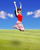 ID 3278105 | Junge Frau springt | Foto mit hoher Auflösung | CLIPARTO